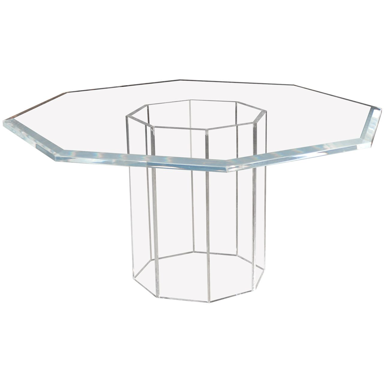 Magnificent Lucite Octagonal Table