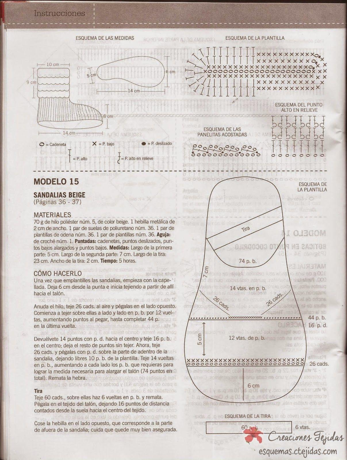 Zapatos a Crochet - Botitas a Punto de Cocodrilo | Proyectos que ...