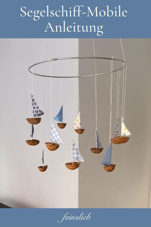 Segelschiff-Mobile (Anleitung): Sommerlich basteln
