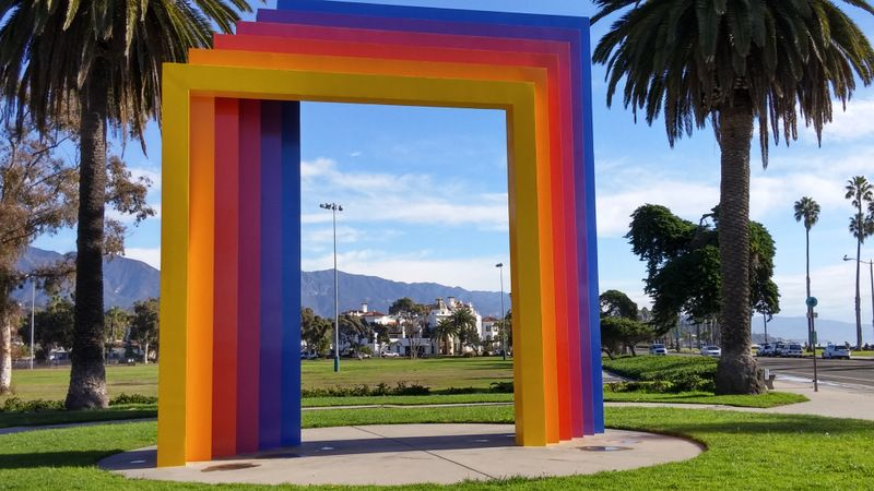 This photograph of Chromatic Gate in Santa Barbara frames the newly ...