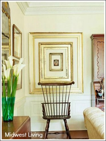 Photo Collage Ideas-not in gold but great idea!! | Framessss ...