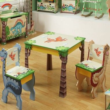Teamson Dinosaur Table And Chair Set For Children & Teamson Dinosaur Table And Chair Set For Children   Baby Kyle ...