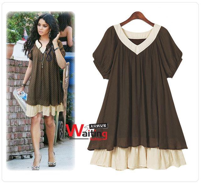 e05651b93c9 Extra Plus size clothing for fat girls women summer fashion V neck ...