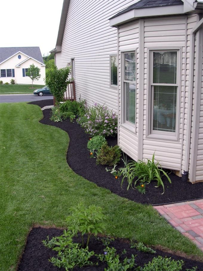 side of house landscape love the curved lines wish we didn 39 t have such a hill on west side. Black Bedroom Furniture Sets. Home Design Ideas
