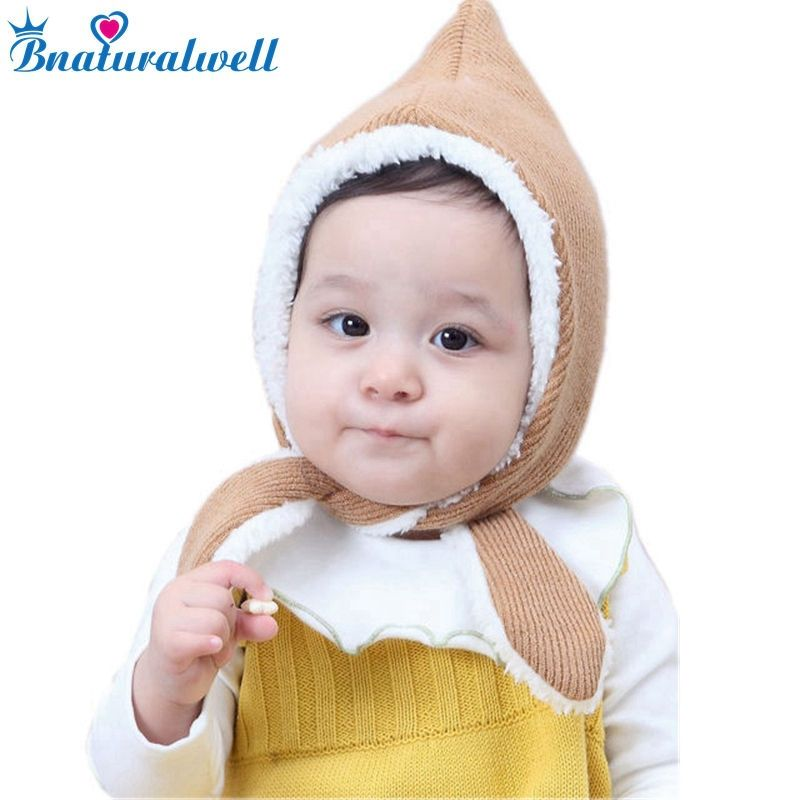 915a93f7839 Bnaturalwell Newborn Knit hat Pixie Bonnet Photo prop christening Little  girls boys winter knit hat unisex
