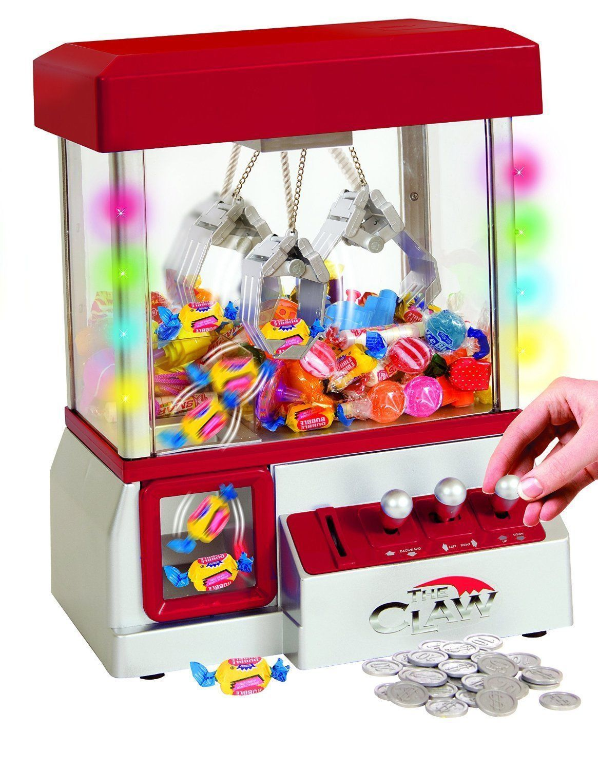 cool Digital Claw Machine LED Lights Sweet Grabber Arcade