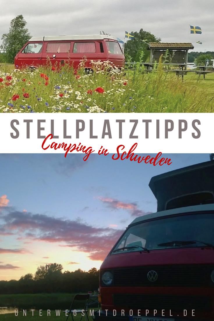 Auf unseren #Reisen mit dem #Bulli durch #Schweden haben wir den einen oder anderen #Campingplatz und #Stellplatz ausprobiert. Unsere ganz persönlichen #Stellplatztipps. #camping #roadtrip #wildcamping #essentialsforcamping