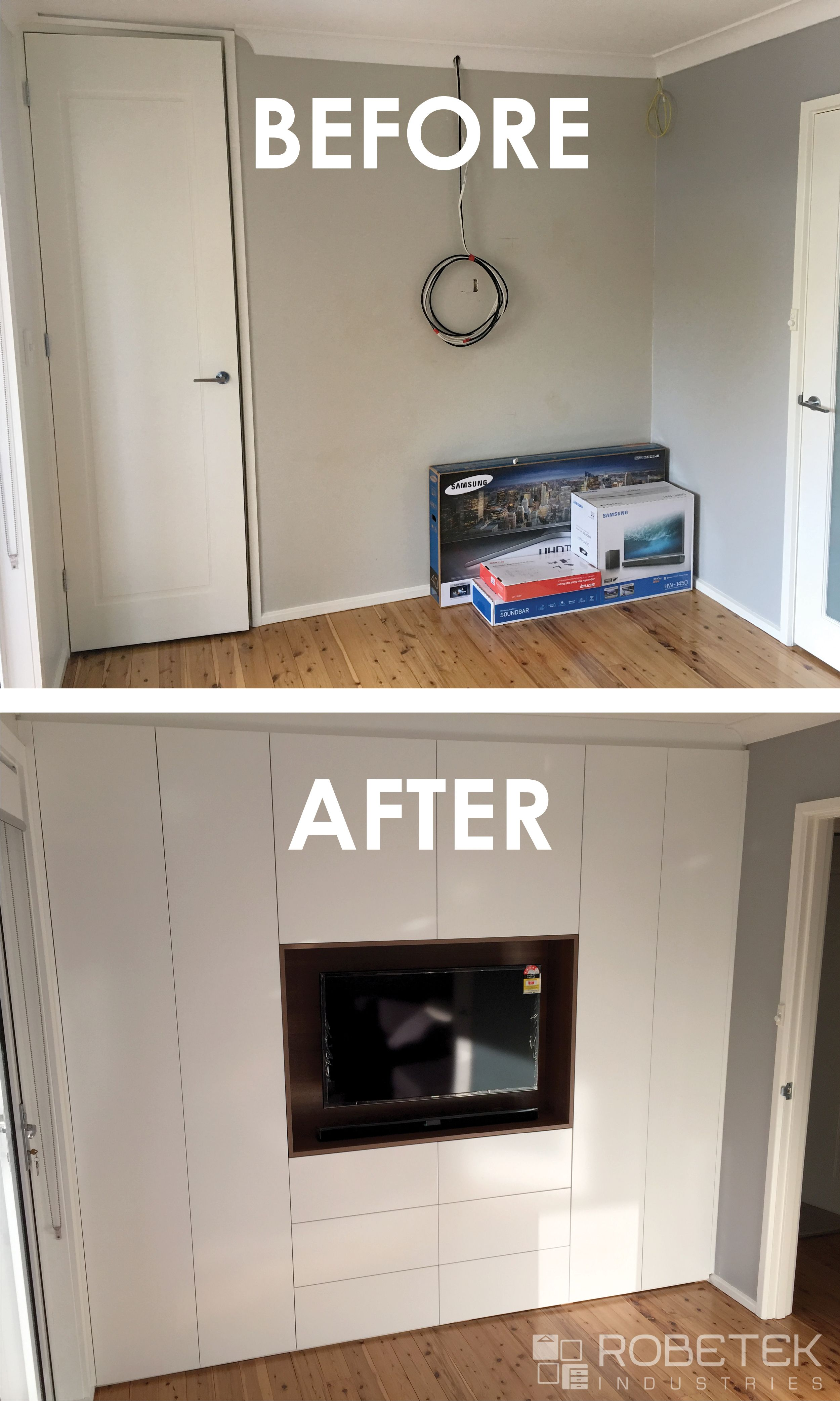 TRANSFORM A SINGLE DOOR CUPBOARD INTO A MULTI FUNCTION SPACE This Built In  Wardrobe Functions