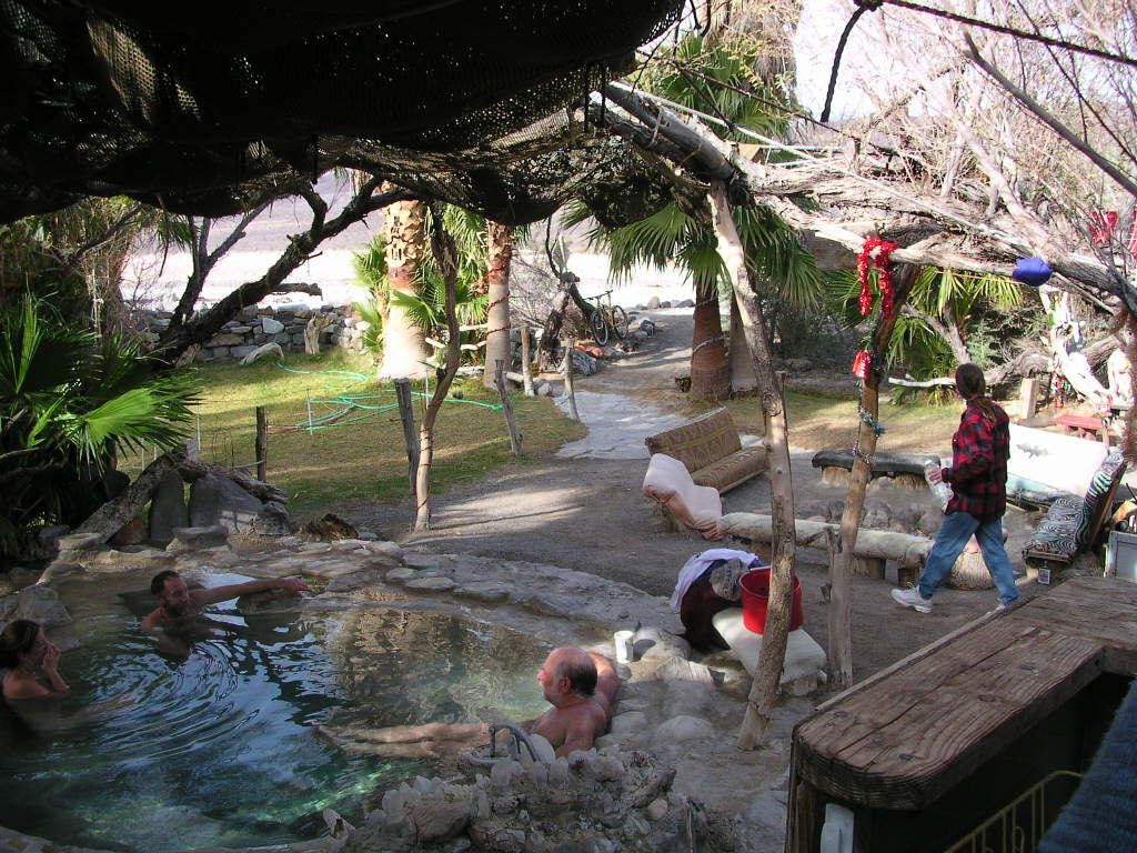 saline valley hot springs | There are three major springs
