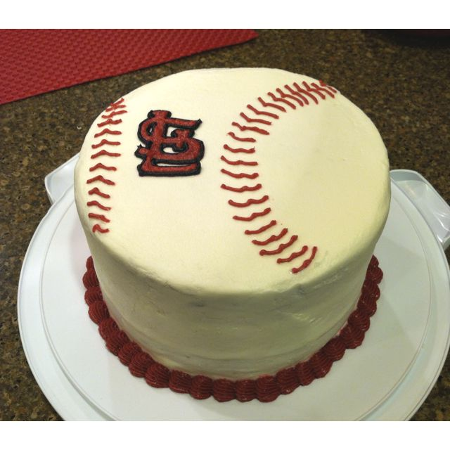 Simple St Louis Cardinals baseball cake Cakes Cupcakes