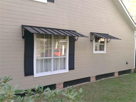 Metal awnings google search decor ideas pinterest - Aluminum window shutters exterior ...