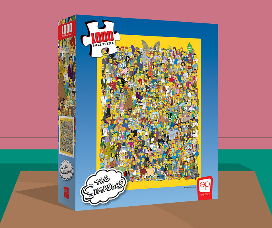 The Simpsons Cast Of Thousands 1000 Piece Puzzle Family Cartoon The Simpsons Tv Stars