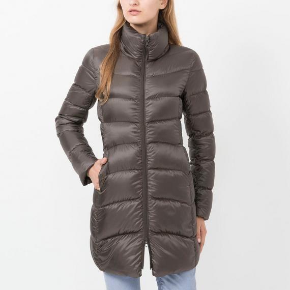WOMEN Ultra Light Down Stand Collar Coat