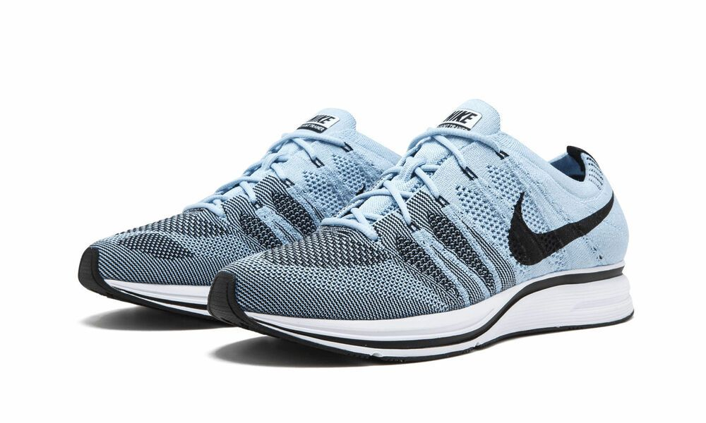 new arrival 0575c fff01 Nike Flyknit Trainer Mens Running Shoes Cirrus Blue Black White Nike  RunningShoes