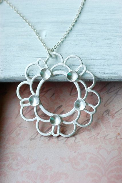 Sterling silver necklace - etsy