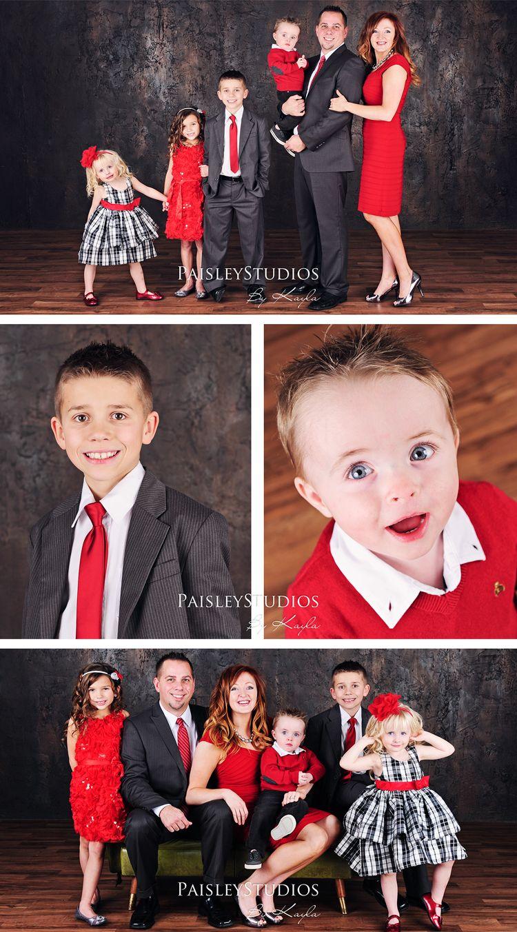 Black Family Christmas Portraits Black And White Family...