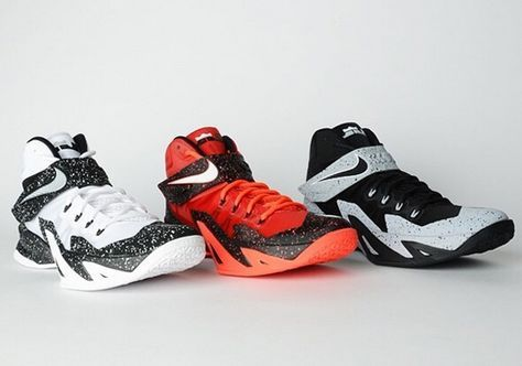 New Arrival Nike Zoom LeBron Soldier 8 University Red Black
