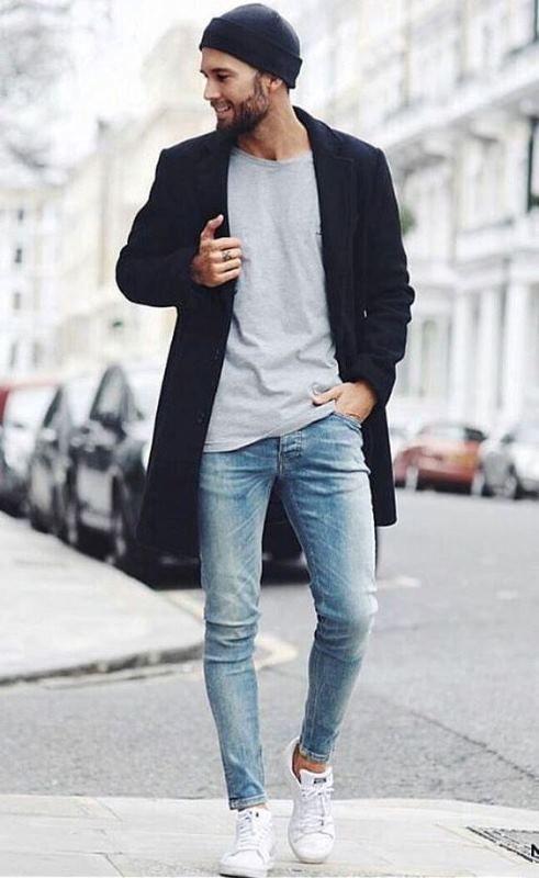 Zapatillas Para Usar Con Jeans Hombre Camisa Con Tenis Hombre Como Vestir Con Tenis Hombres Como Moda Ropa Hombre Ropa Casual De Hombre Combinar Ropa Hombre