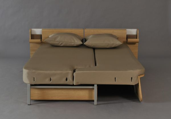 Architecture & Design: Story. a combination of a sofa, workstation and bed. Designed by Fanny Adams, this multifunctional piece is ideal for small homes