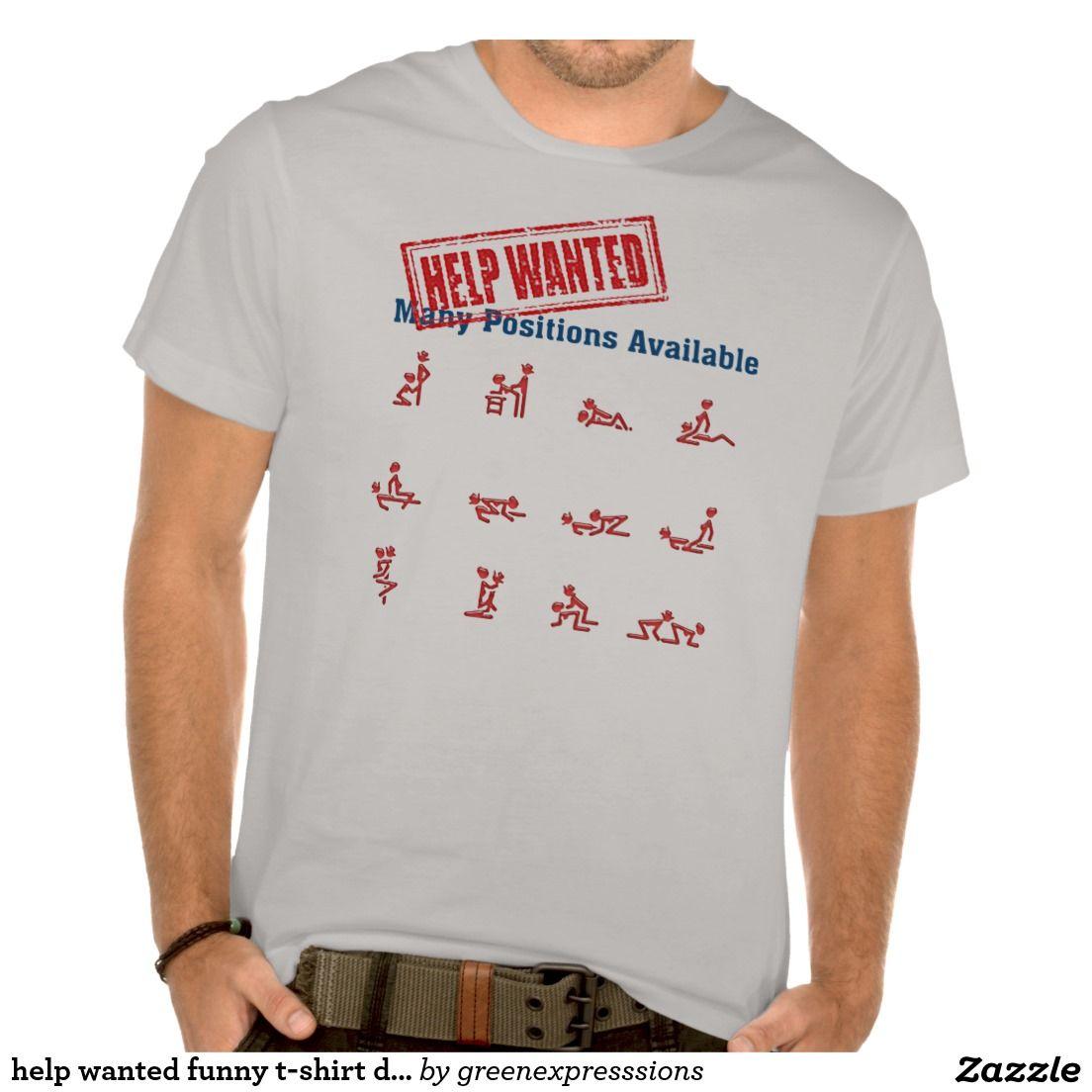 T shirt design help - Help Wanted Funny T Shirt Design Gift Idea