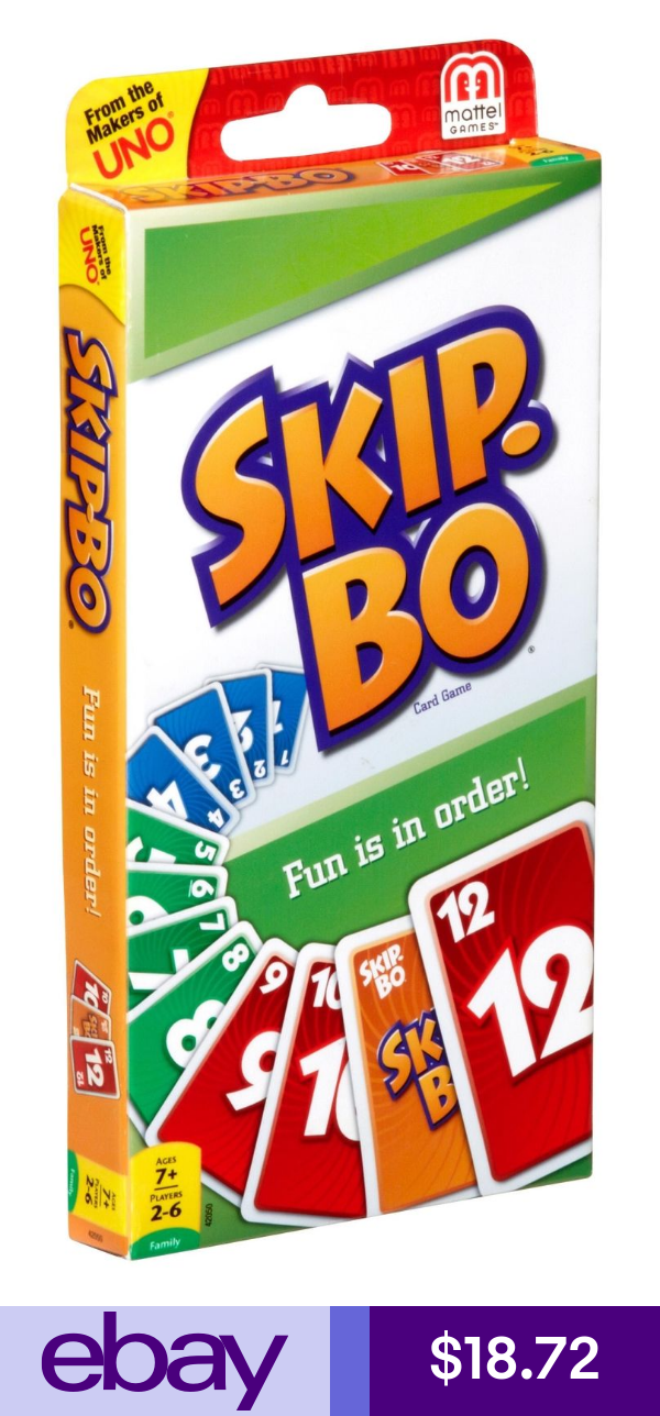 Mattel Card Games Toys Hobbies Skip Bo Card Game Card Games Uno Card Game