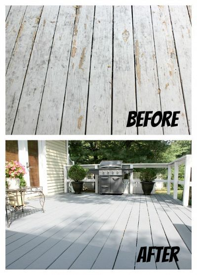 Painting A Deck Deck Makeover Deck Colors Building A Deck