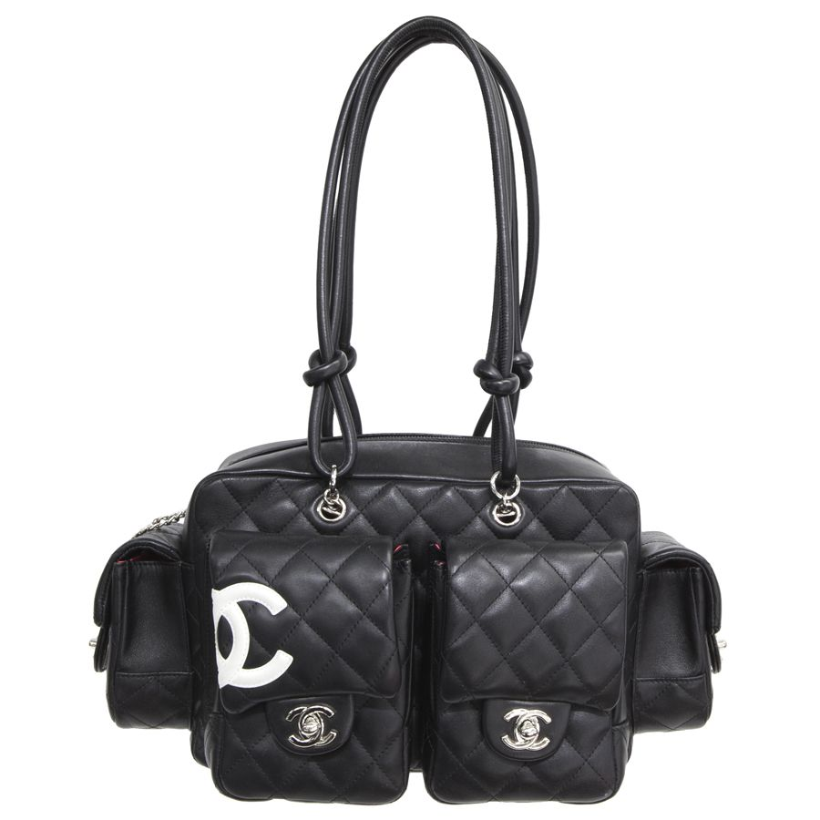 9a7ed6ba1ba4 MODASELLE - Chanel Black Quilted Lambskin Cambon Reporter Bag, CAD  $1,500.00 (http:/