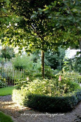 Deko · Romantischer Sitzplatz, Kieswege, Gartengestaltung, Gartenideen,  Topiary, Hortensien, Schattengarten, Planen