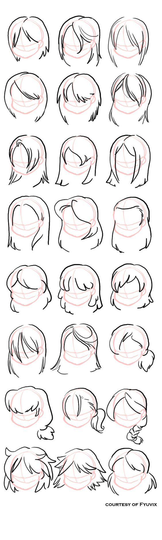 Hairstyles- Straight by =fyuvix: