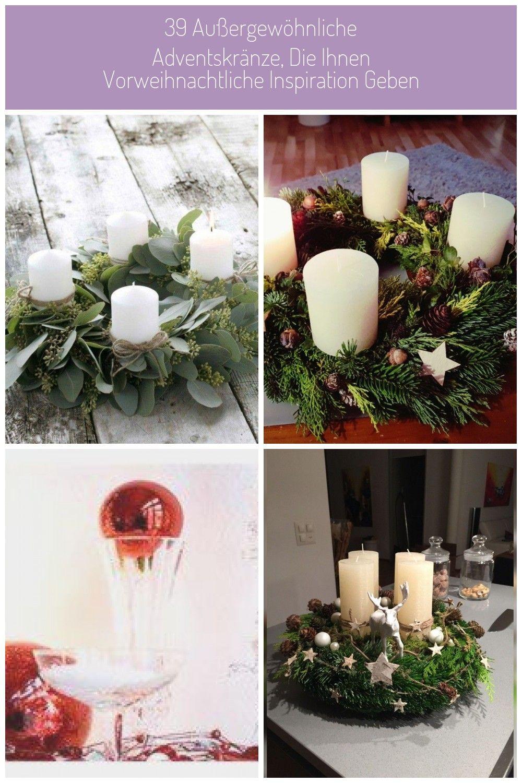DIY Adventskranz mit Eukalyptus dekorieren #adventskranz dekorieren 39 außergew…,  #Advents…