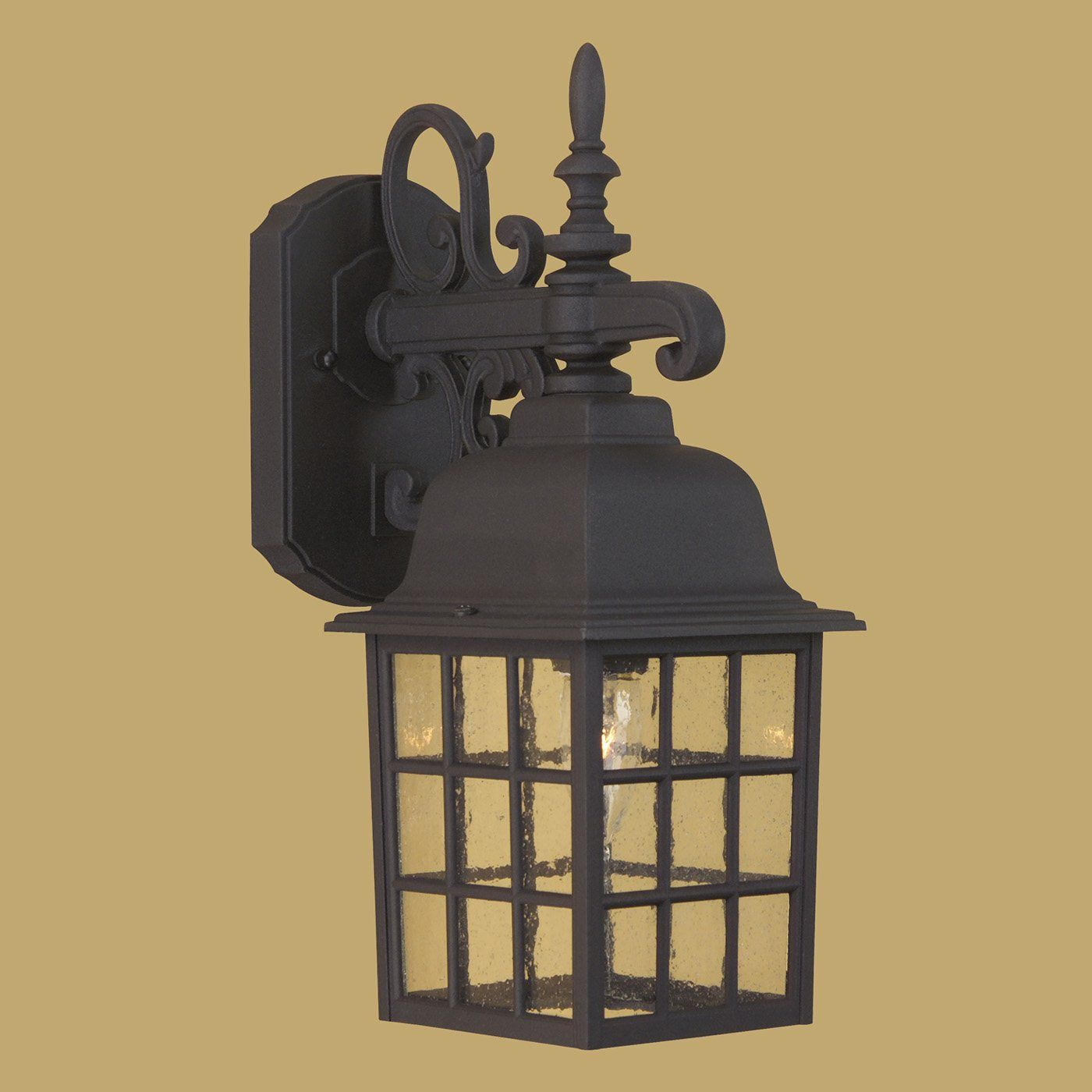 Craftmade Z270 0 Cast Aluminum Grid Cage Outdoor Sconce