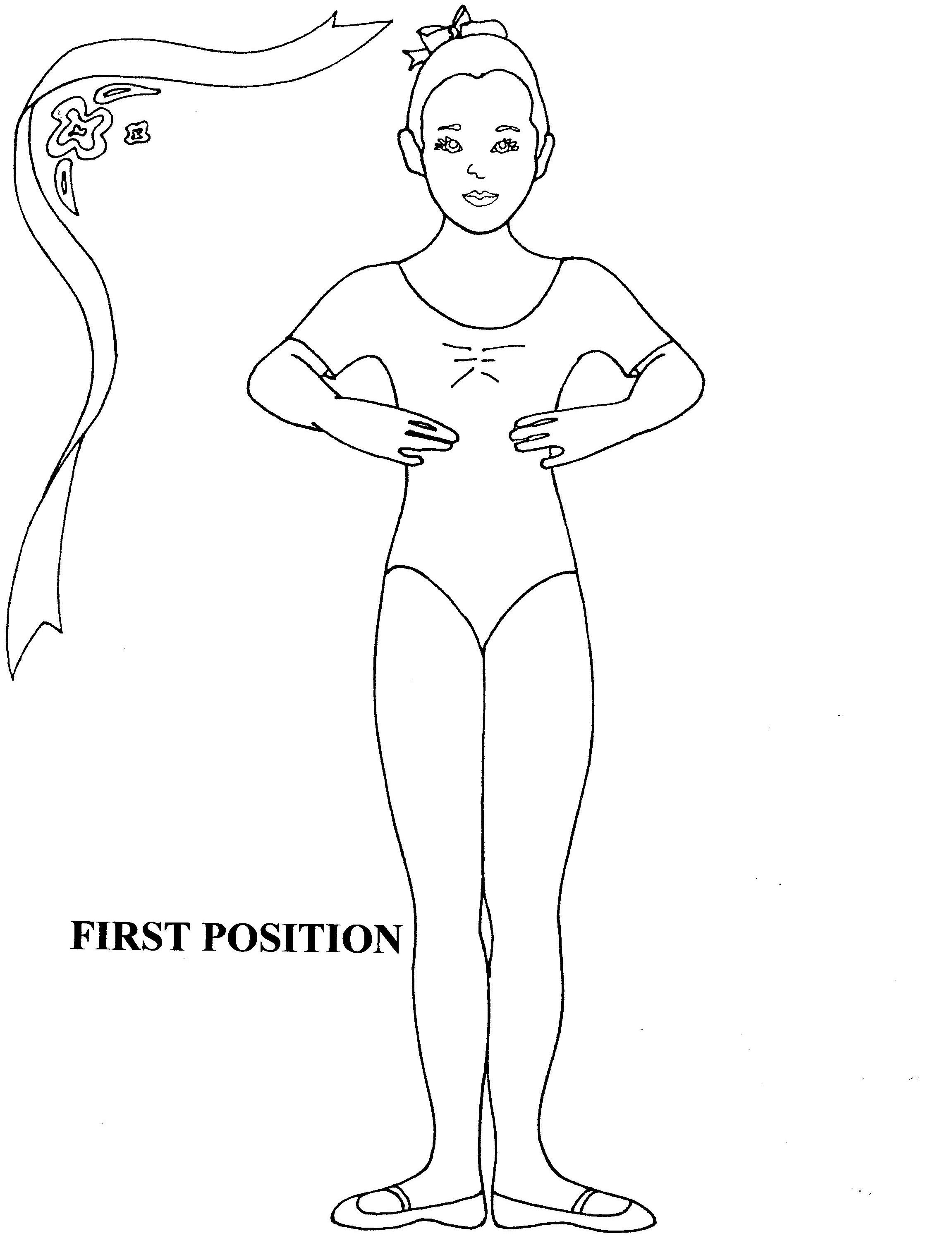 Ballet First Position Coloring Sheet With Images Dance