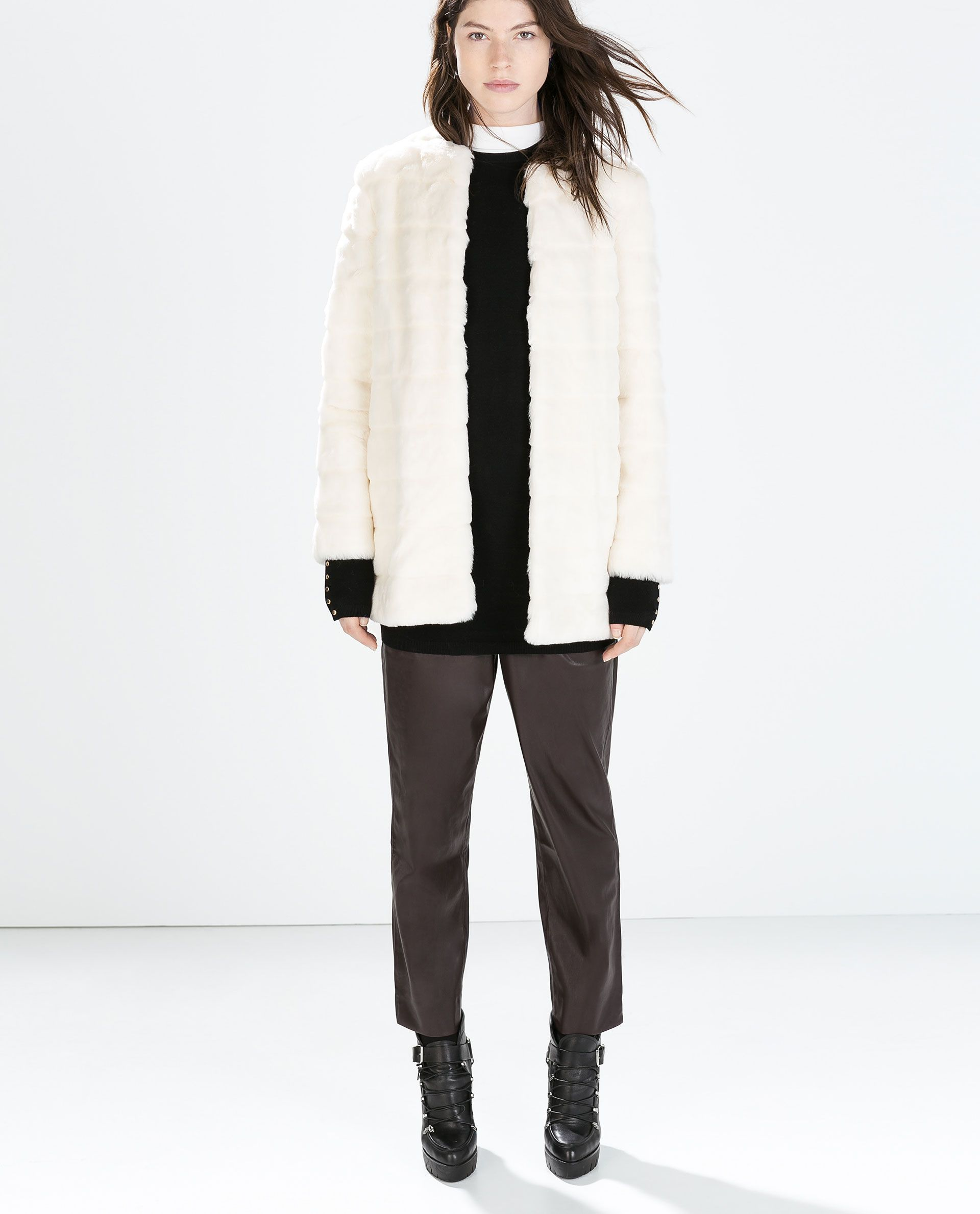 b611161feb winter white // FAUX FUR COAT from Zara | My Dream Closet | White ...