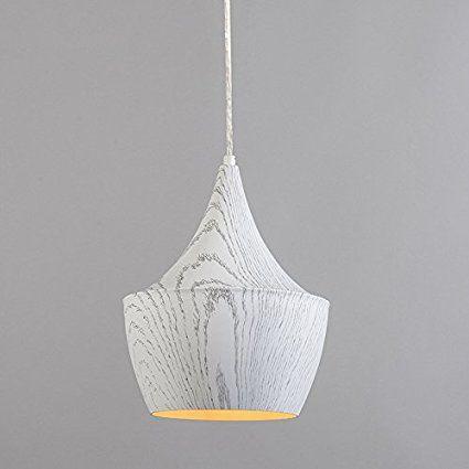 QAZQA Landhaus / Vintage / Rustikal / Retro / Pendelleuchte / Pendellampe / Hängelampe / Lampe / Leuchte Botti weiß Metall Rund LED geeignet E27 Max. 1 x 60 Watt: Amazon.de: Beleuchtung