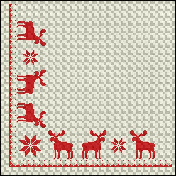 Bordado para mantel navidad manteles navidad pinterest - Manteles para navidad ...