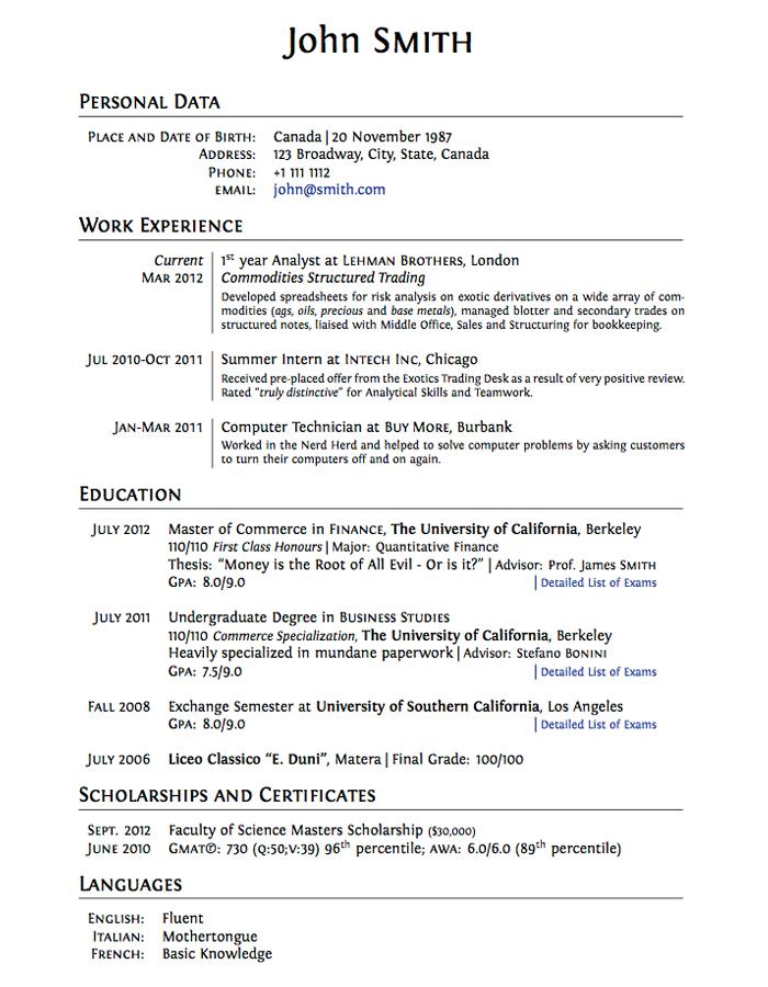 Resume Template High School Student Australia
