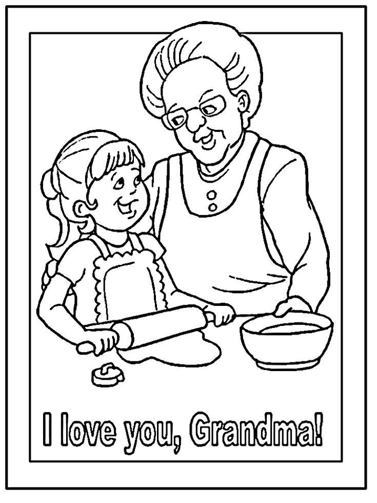Print Off a Free Grandparents Day Coloring Page: DLTK\'s Grandparents ...
