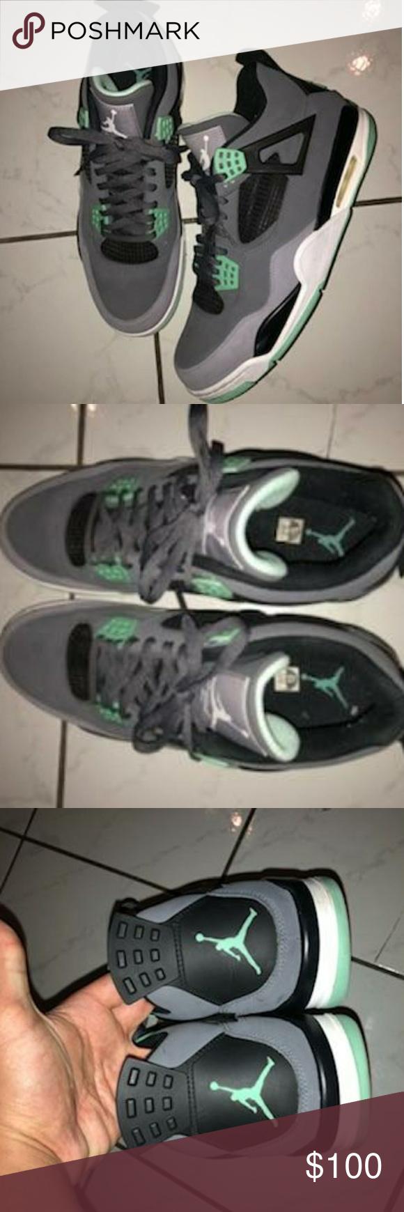 493815dee638d3 ... jordan green glow 4s size 13 vnds size 13 jordan shoes sneakers
