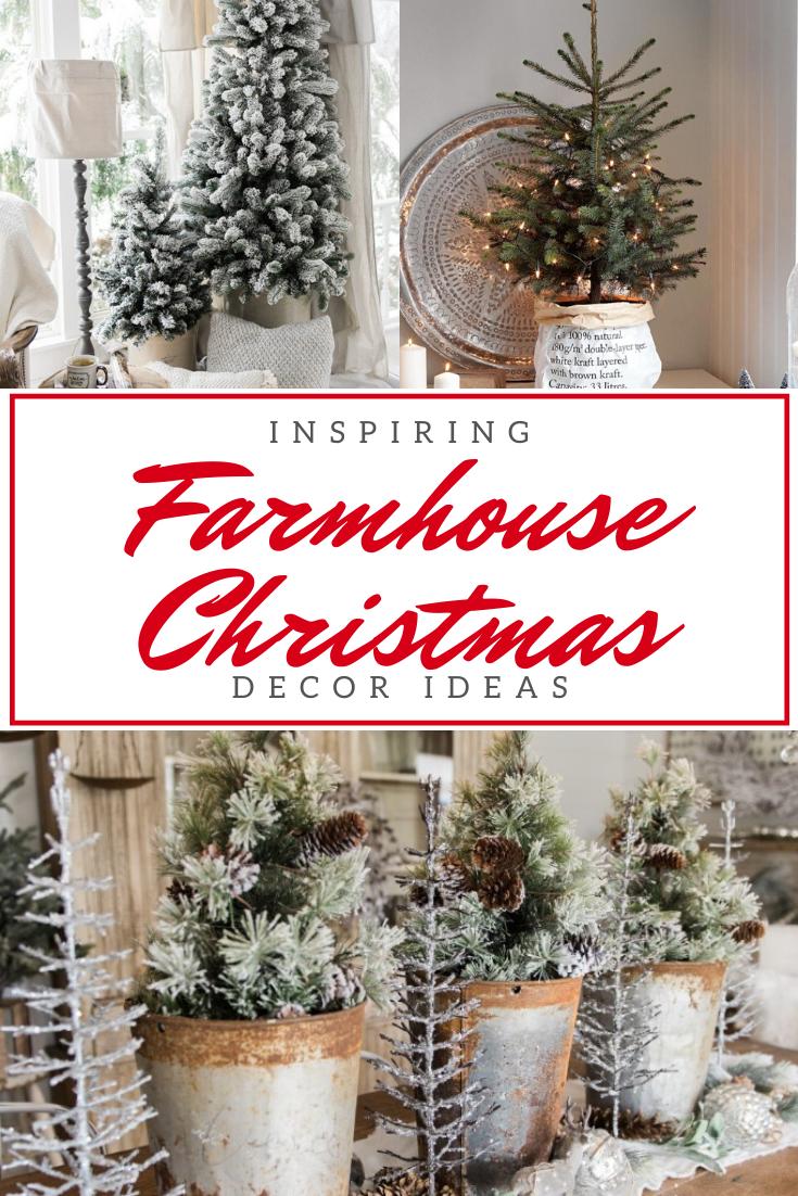 40 Farmhouse Christmas Decor Ideas Homelovr Farmhouse Christmas Decor Farmhouse Christmas Christmas Decorations