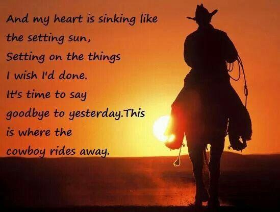 Cowboy Rides Away Country Lyrics George Strait Country Music Lyrics