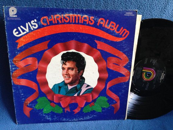 Rare Vintage Elvis Presley Elvis Christmas Etsy Christmas Albums Elvis Vinyl Sales