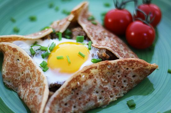 Photo of baked egg crepes