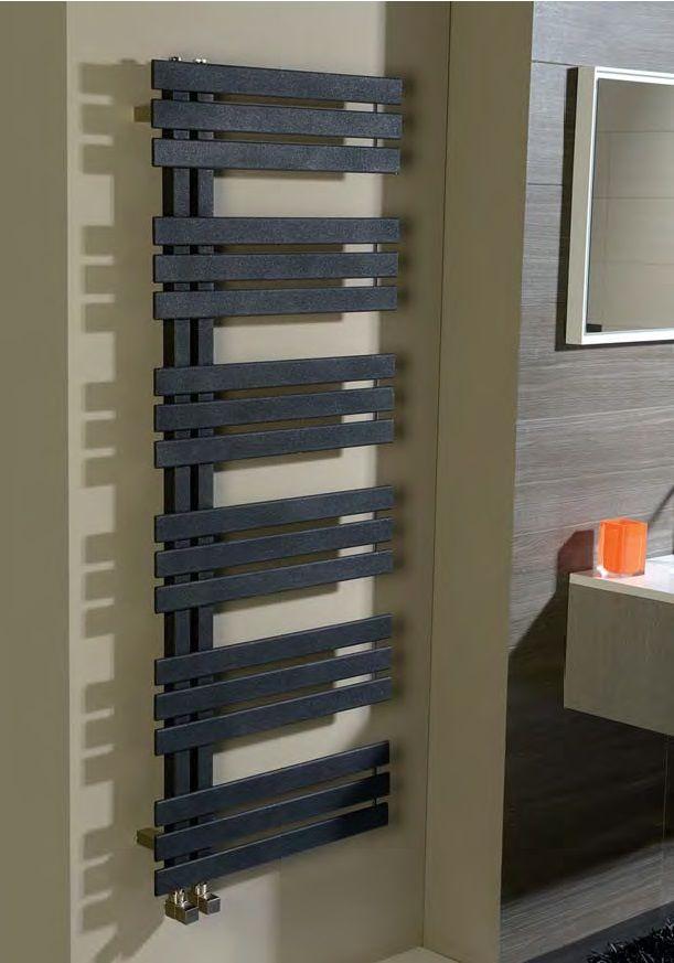 Radiateur sèche-serviettes SILVANA avec tubes rectangulaires