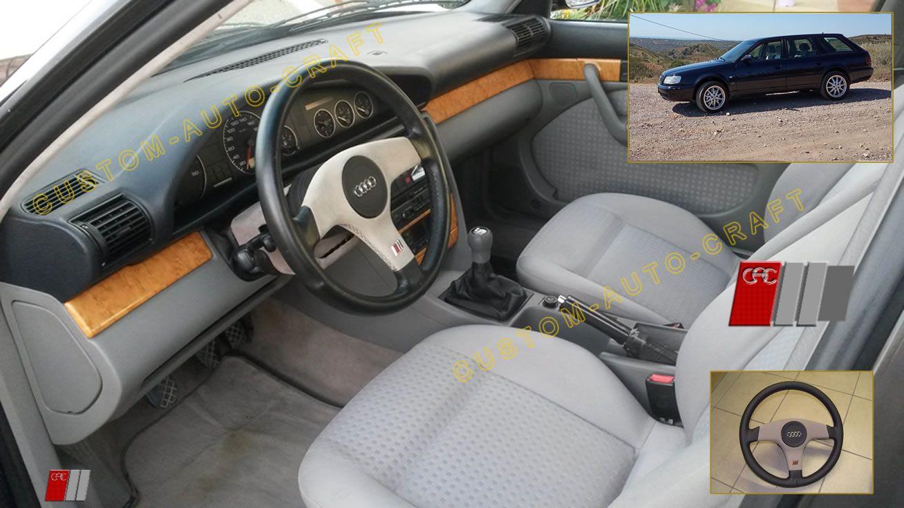 audi A6 (C4) with rs2 grey alcantara steering wheel