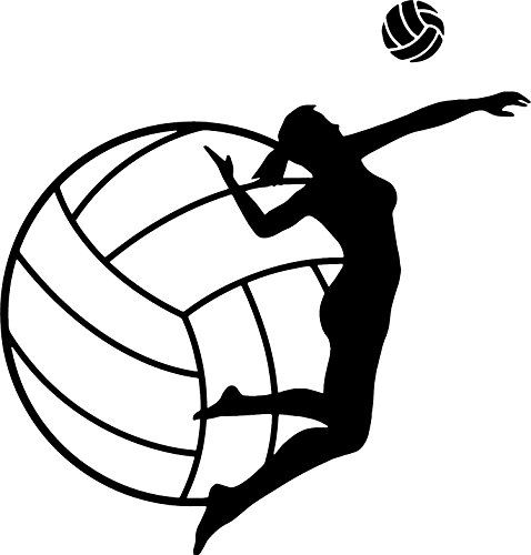 Girls Volleyball Wall Decal Volleyball Spike Is Quality B Https Www Amazon Com Dp B01n4gsmna Ref Volleyball Tattoos Volleyball Workouts Volleyball Posters