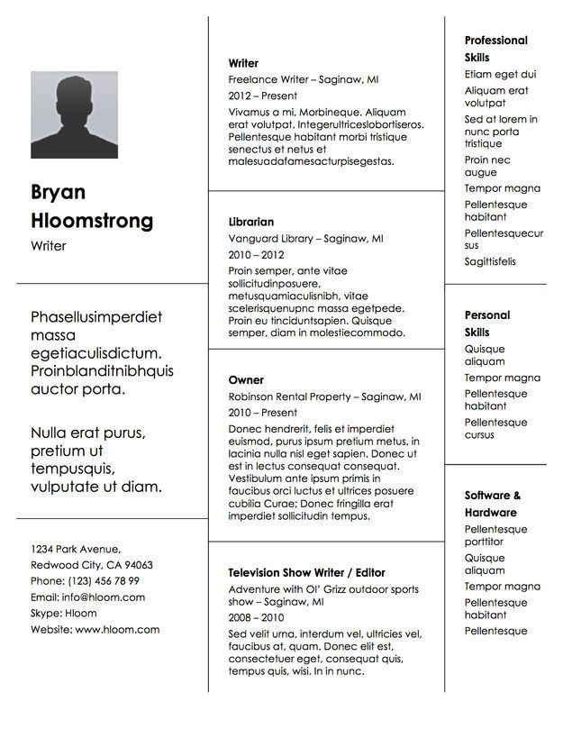 21 Free Résumé Designs Every Job Hunter Needs Career advice and - landscape resume