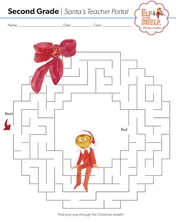 Christmas Coloring Pages | Elves, Maze and Shelves