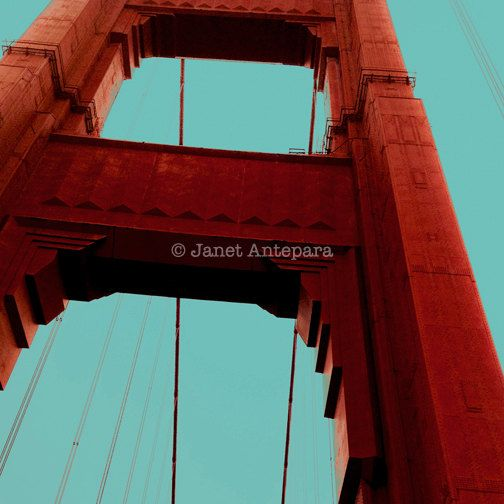 Golden Gate Print. 12 x 12 or 8 x 8 photo print.  #california #GoldenGate #city #GoldenGateBridge #red #urban #travel #photography #SanFrancisco #bridge #monumentc #architecture #photo #etsy #print #wallart #photoprint