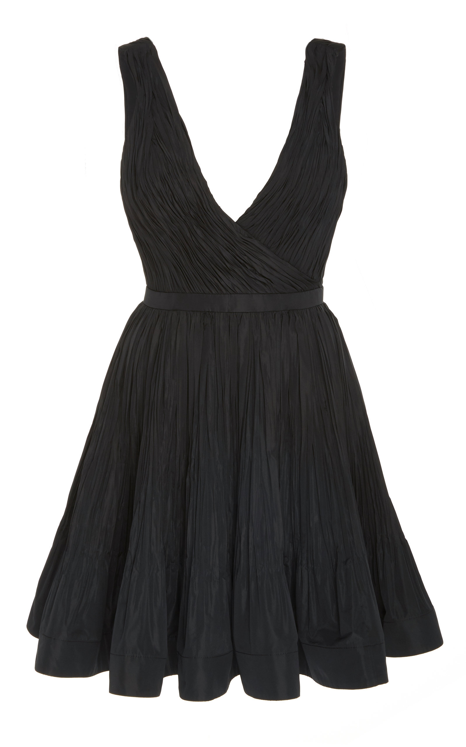 MONSE One Shoulder Striped Silk Midi Dress | Fit, flare