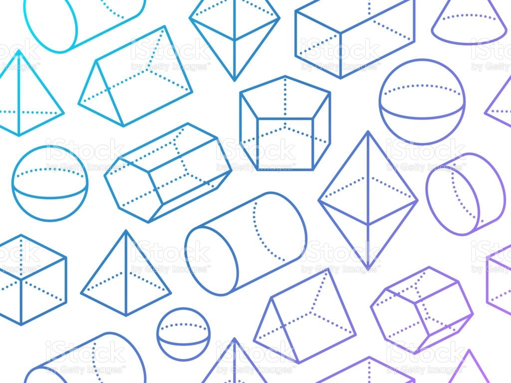 3d Geometric Shapes Seamless Background Abstract Pattern
